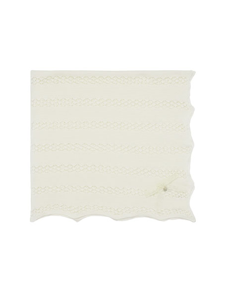 Pili Carrera Open Stitch Baby Blanket