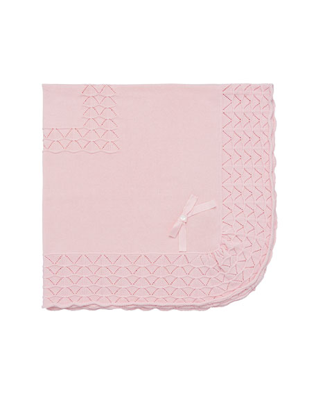 Pili Carrera Pointelle Knit Baby Blanket