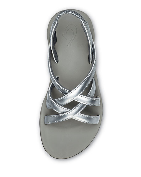 Olukai Girls' Kalapu Crisscross Sandals, Baby/Kid