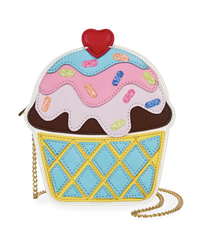 Girls' Ice Cream Cup Crossbody Bag