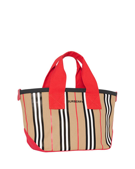 Burberry Kids' Icon Stripe Canvas Tote Bag