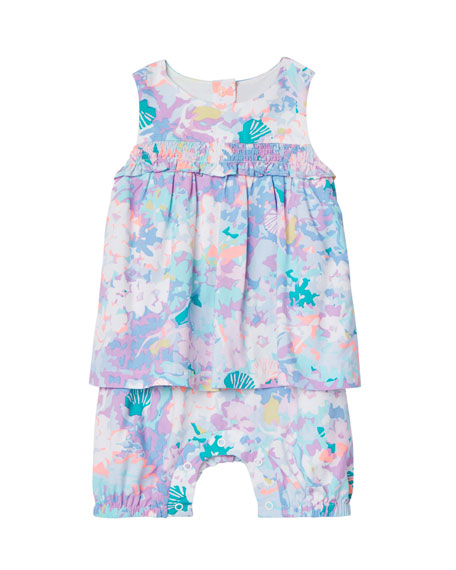 Joules Uma Romper w/ Dress Overlay, Size 3-24 Months