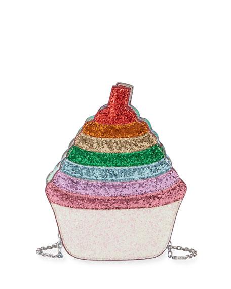 Bari Lynn Crossbody GIRLS' GLITTERED CUPCAKE CROSSBODY BAG