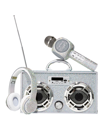 Wireless Express Sing-Along Iridescent Bling Karaoke Microphone