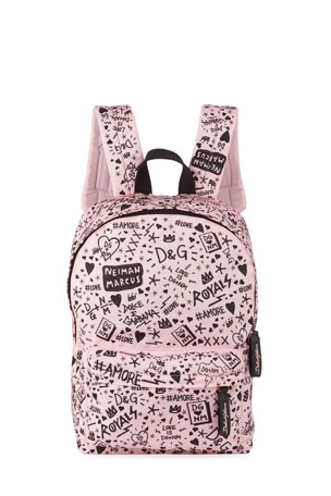 Dolce & Gabbana Kids' DG + NM Logo Backpack
