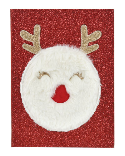 Kid's Glitter Reindeer Journal