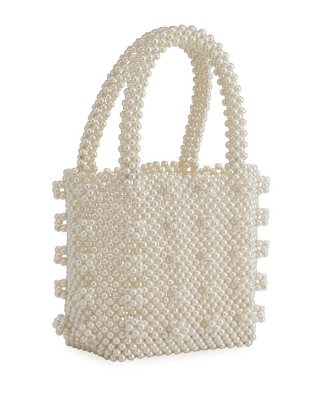 Bari Lynn Pearly Bead Bag