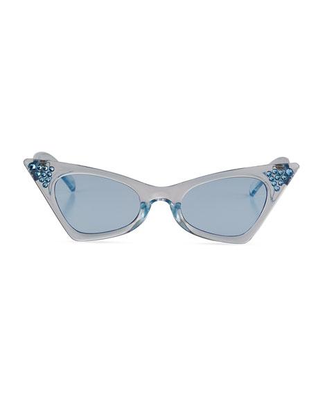 Bari Lynn Kid's Swarovski Crystal Cat-Eye Sunglasses