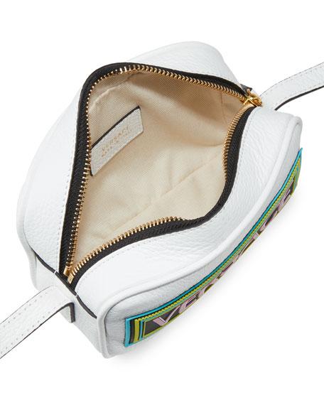 Versace Kid's Leather Logo Crossbody Bag