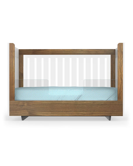 Image 1 of 2: Spot On Square Roh Crib Conversion Kit, Walnut/Acrylic