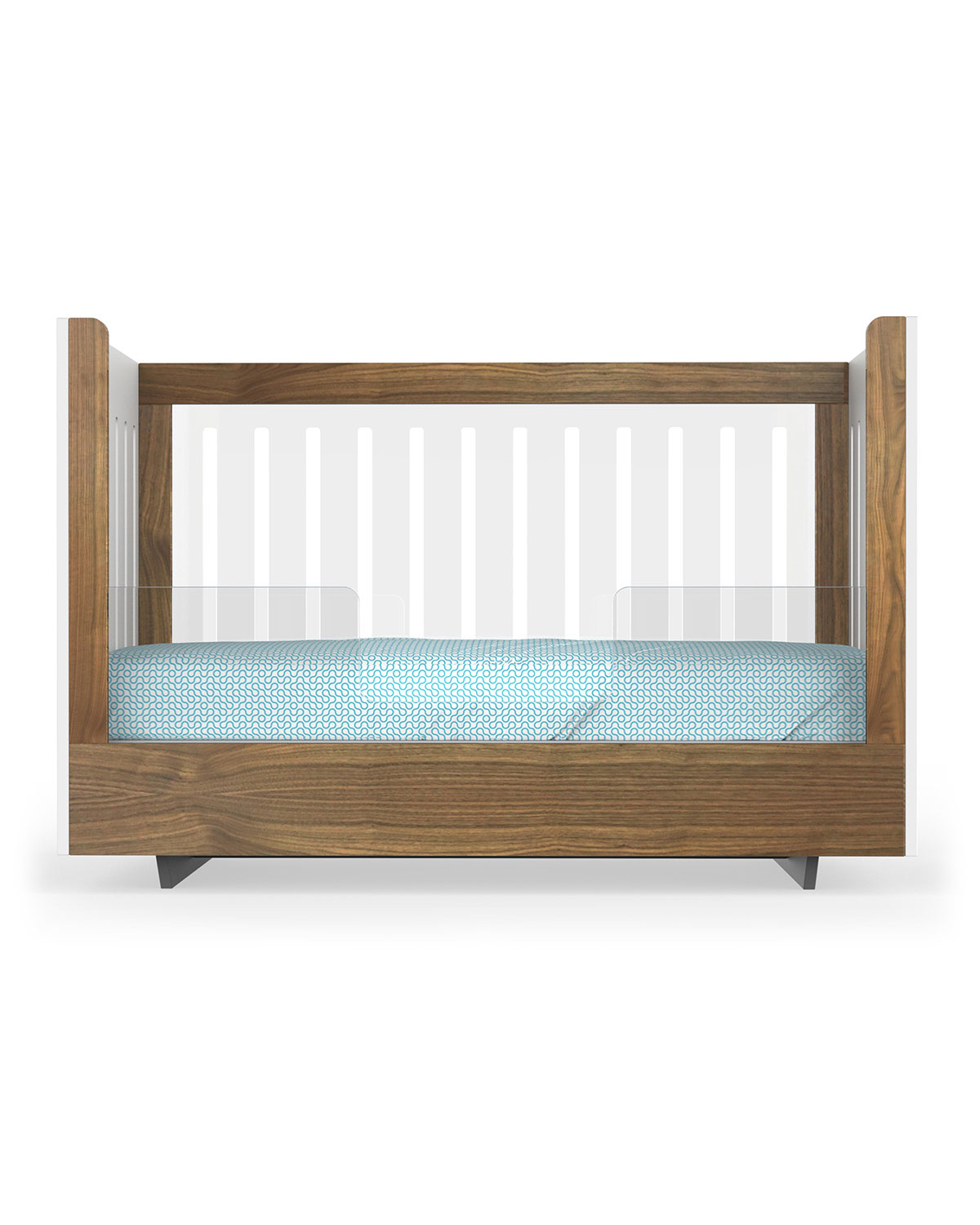 Spot On Square Roh Crib Conversion Kit, Walnut/Acrylic