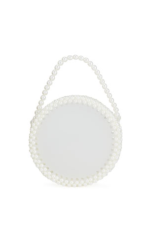 Bari Lynn Girl's Clear Pearl Bag