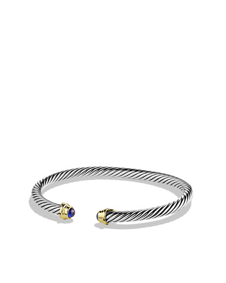 Cable Kids September Birthstone Large Bracelet with Sapphire