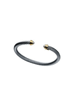 David Yurman Cable Kids June Birthstone Small Bracelet with Pearl and Gold