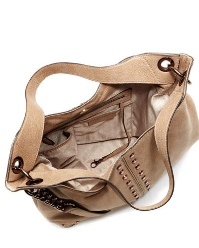 Uptown Astor Large Shoulder Bag Dark Khaki 76