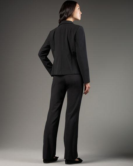 Straight-Leg Bi-Stretch Trousers, Women's