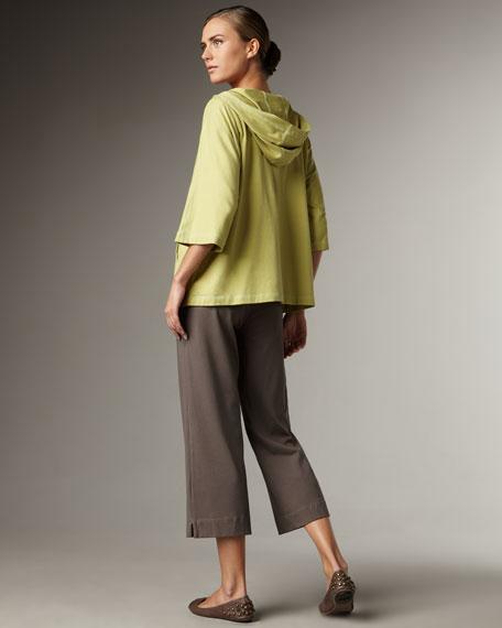 Organic-Cotton Zip Jacket, Petite