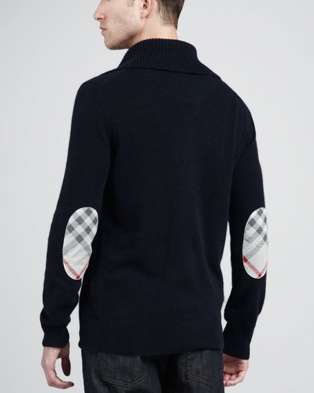Half-Zip Cashmere Sweater, Mid Gray