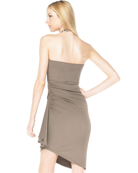 Python-Neck Halter Dress
