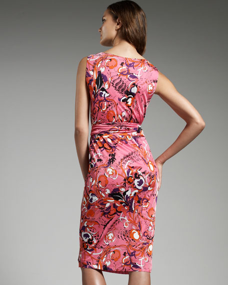 Rosetto-Print Jersey Marilyn Dress