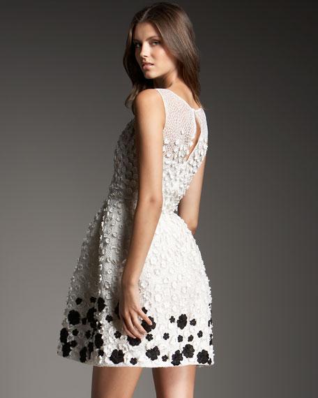Flower-Embroidered Dance Dress