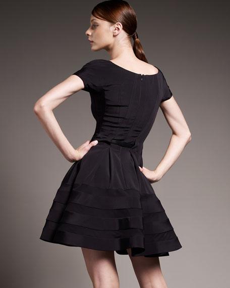 Sheer-Striped Dress