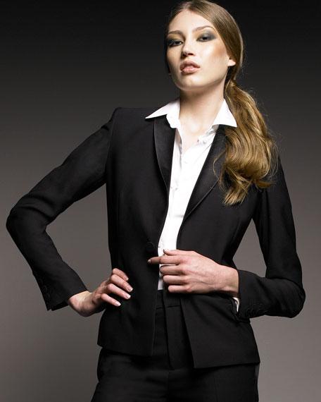 Cutout-Back Tuxedo Jacket