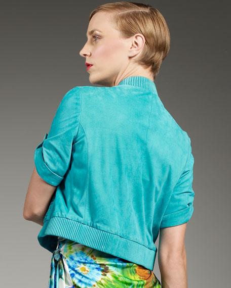Suede Short-Sleeve Jacket
