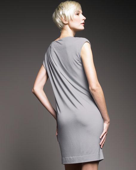 Brushstroke-Print Jersey Dress