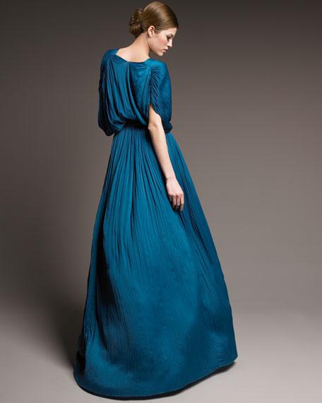 Plisse Kimono Gown