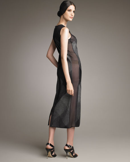 Mid-Calf Plaid Dress