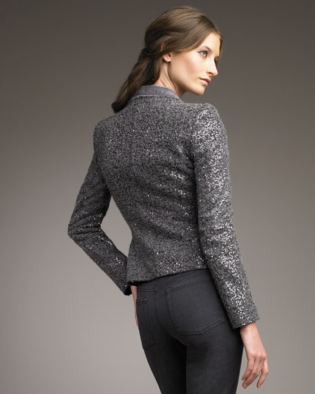 Sequined Wool Jacket