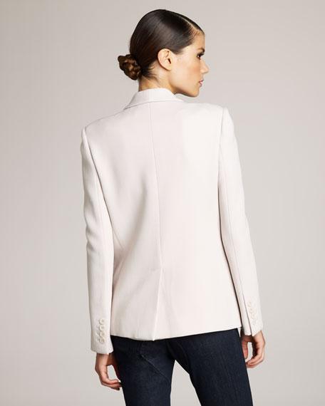 Shawl-Lapel Jacket, Off White