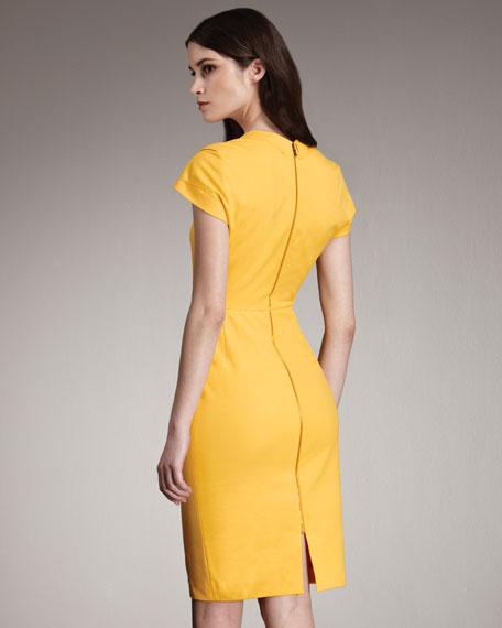 Exclusive Feeny Sheath Dress, Yellow