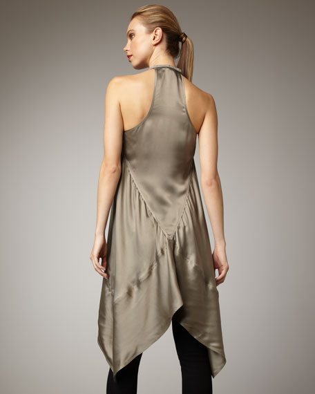 Satin Trapeze Dress