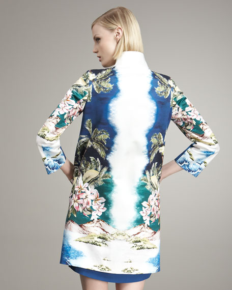 Tropical-Print Coat