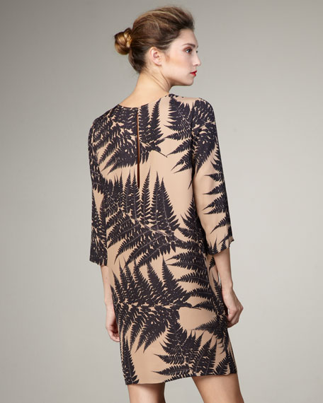 Fern-Print Shift Dress
