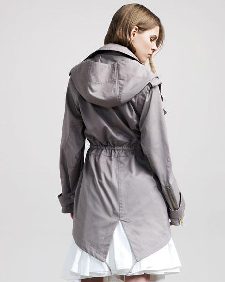 Walnut Hooded Overcoat