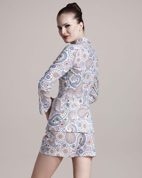Paisley-Print Shorts