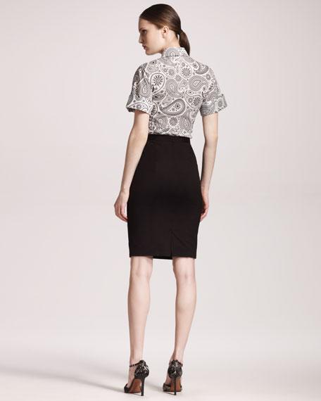 Stretch-Poplin Skirt