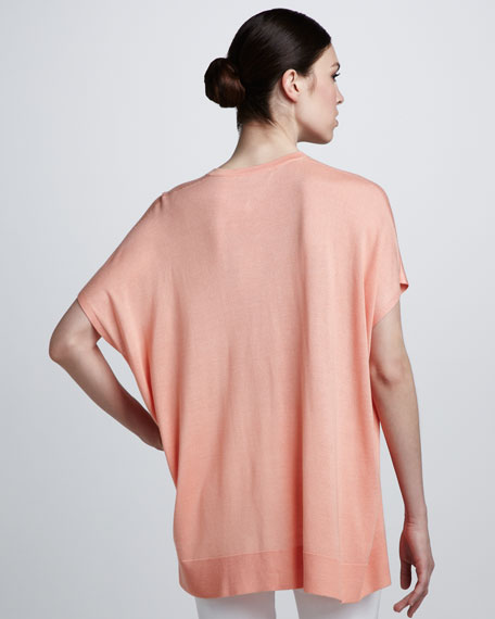 V-Neck Tunic, Bisque
