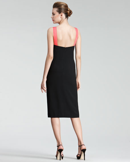 Grosgrain-Strap Dress