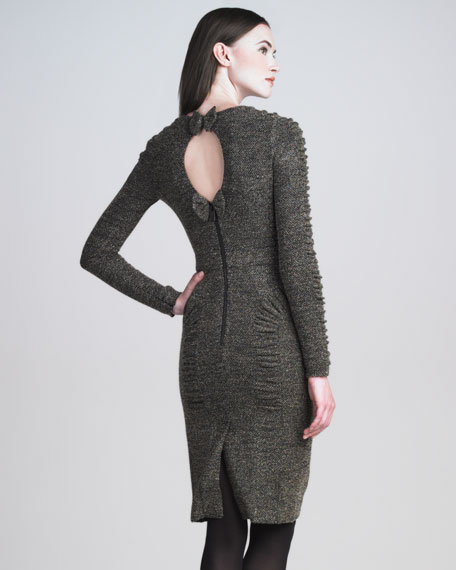 Stretch-Tweed Dress