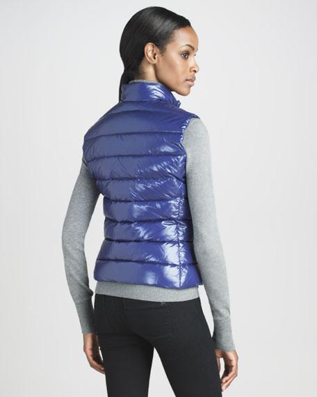 Laque Puffer Vest, Royal