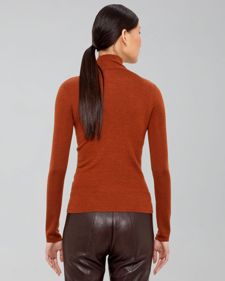 Slit-Neck Pullover, Rust