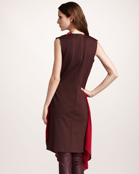 Asymmetric Draped Tunic Dress