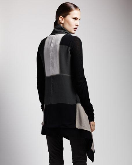 Colorblock Georgette Jacket