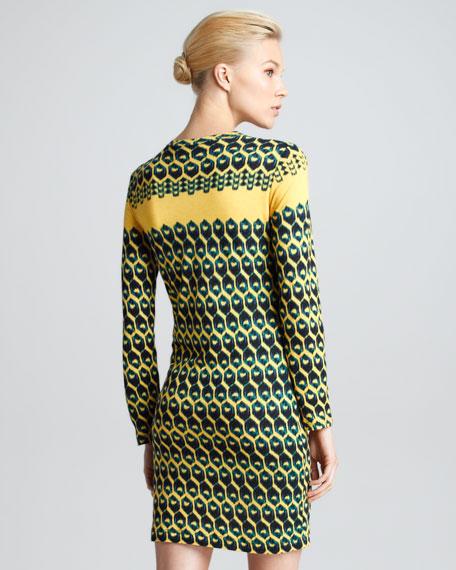 Honeycomb-Print T-Shirt Dress