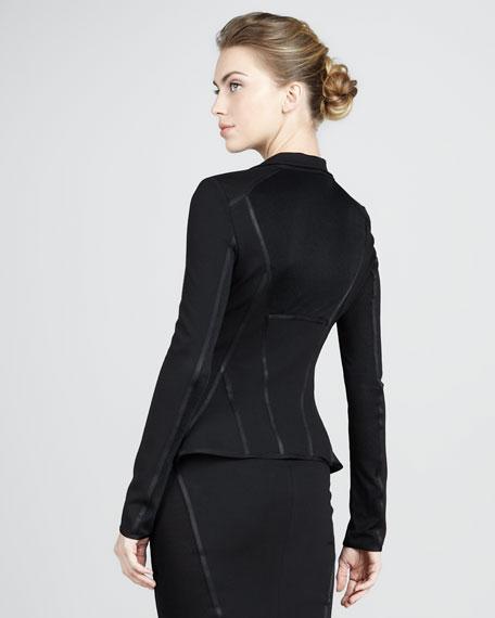 Cascading Lapel Jacket, Black