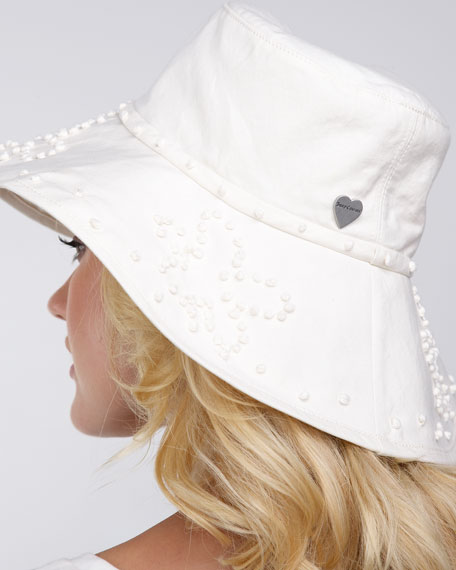 Knot-Embroidered Floppy Hat